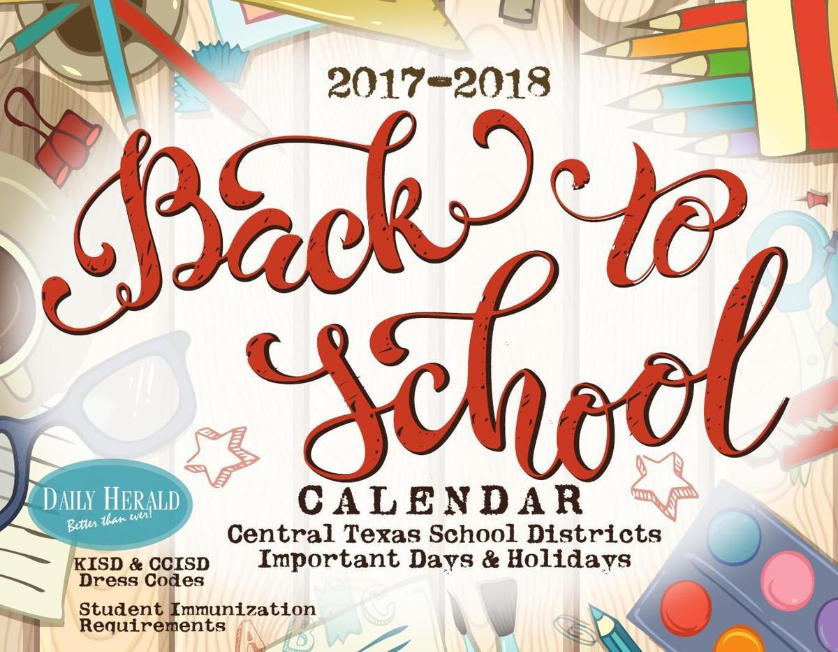 2017 BACK TO SCHOOL CALENDAR