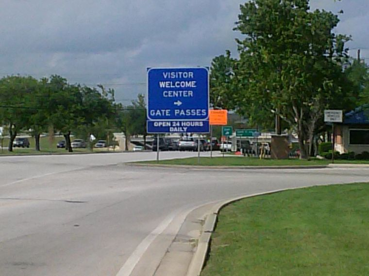 Traffic at Fort Hood's main gate