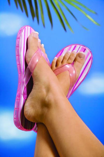 Flip-flop heel pain