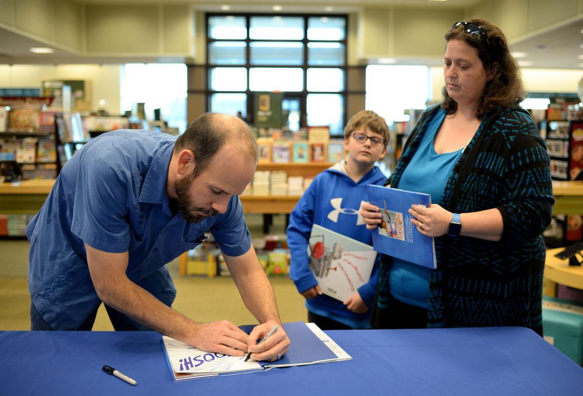 Chris Barton book signing