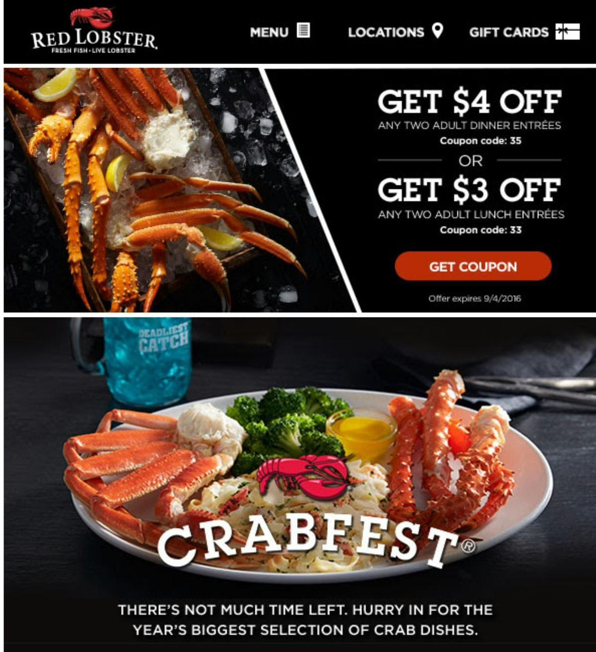 Red Lobster Specials - Menu Specials Red Lobster Seafood Restaurants | Party ...