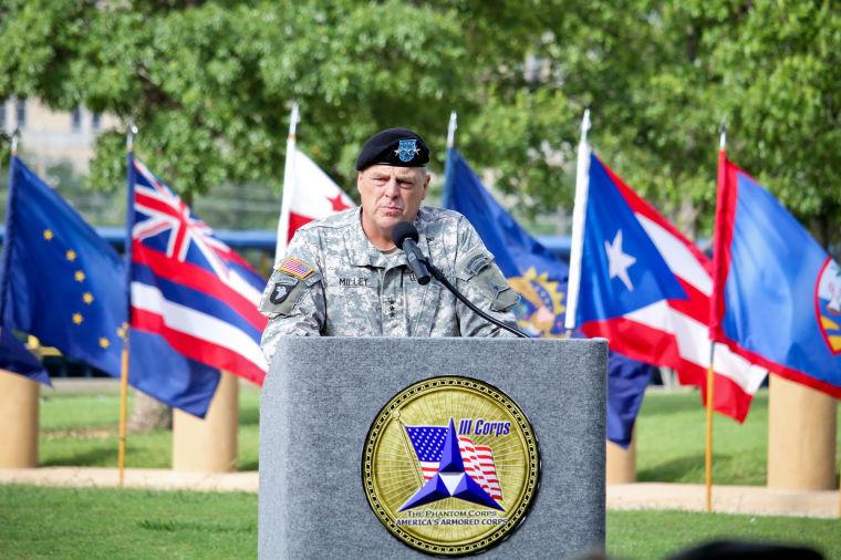 Lt. Gen. Mark Milley speaks