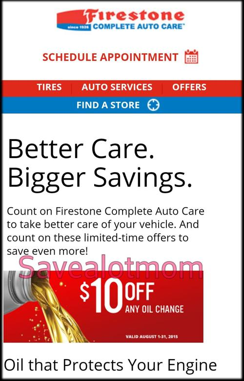 How Much Is An Oil Change At Firestone >> Firestone 10 Oil Change Coupon Save A Lot Mom Kdhnews Com
