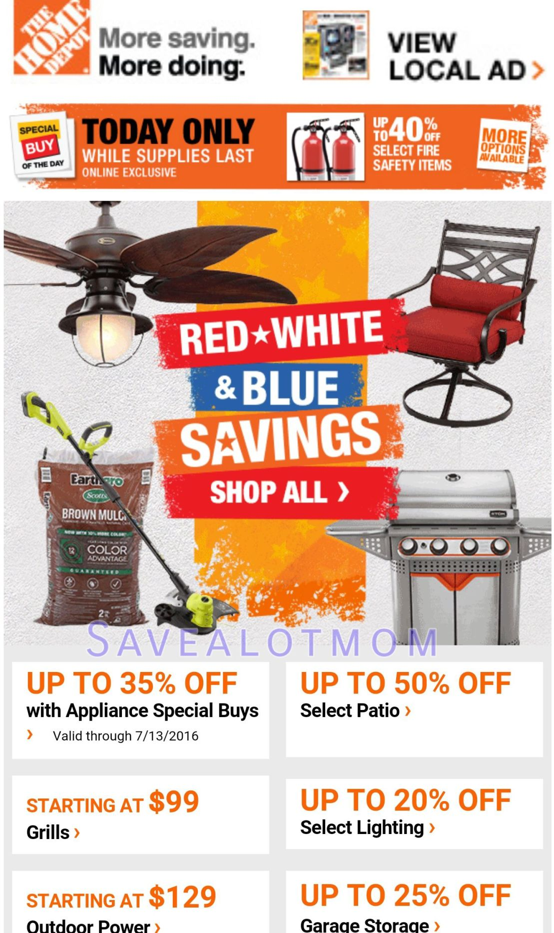 Home Depot Red White And Blue Sale Dates