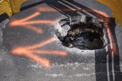 Sinkhole on South WS Young Drive