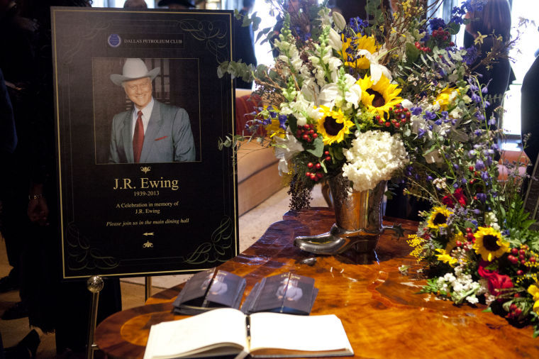 J.R. Ewing's funeral on 'Dallas'