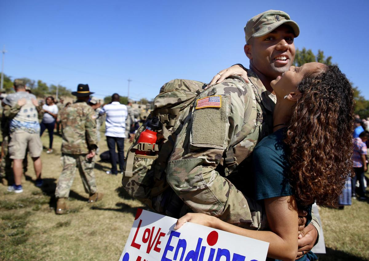More soldiers return from south korea military kdhnews homecoming m4hsunfo