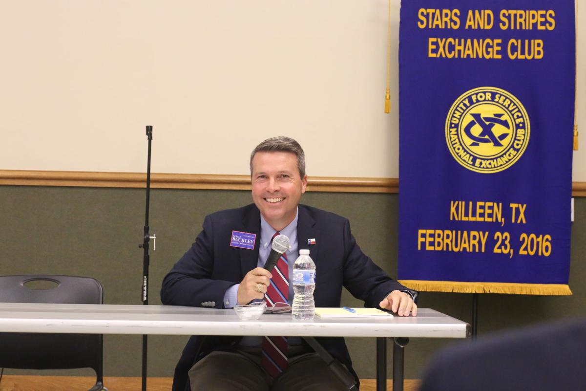 Buckley answers questions about property taxes, water at forum