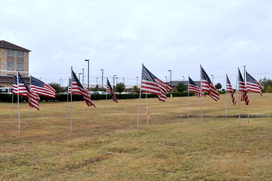 Flags at FH memorial
