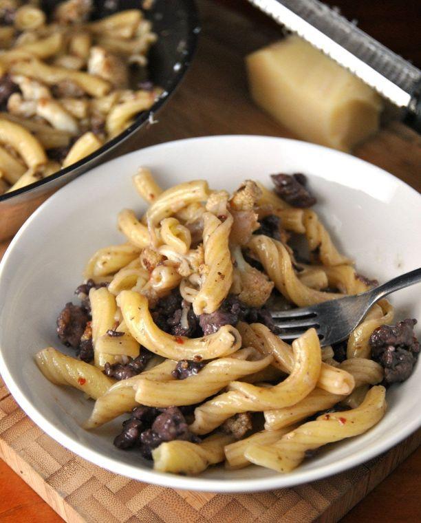Cauliflower and sausage pasta