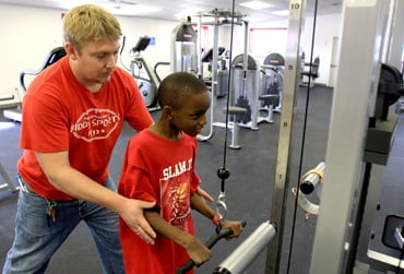 Fitness room opens