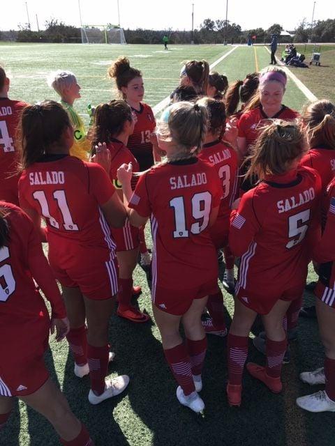 Salado girls at Panther Cup