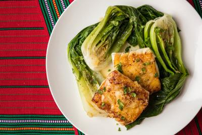 Cod with Ginger Beer and Bok Choy