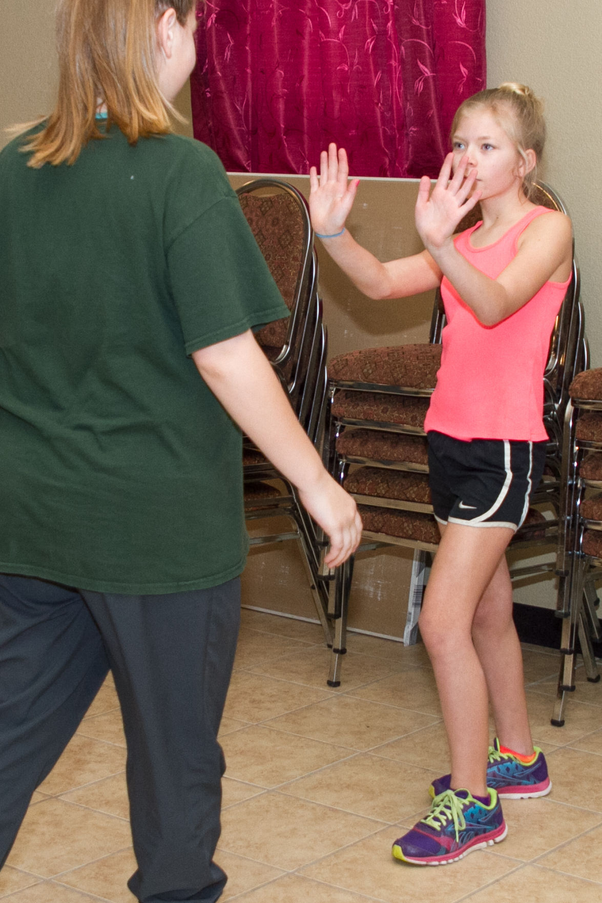 Teen Girls Learn About Self-defense