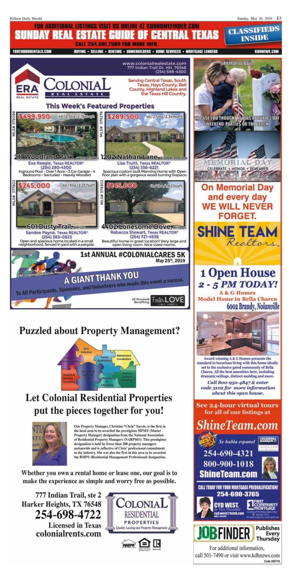Sunday Real Estate Guide May 26th