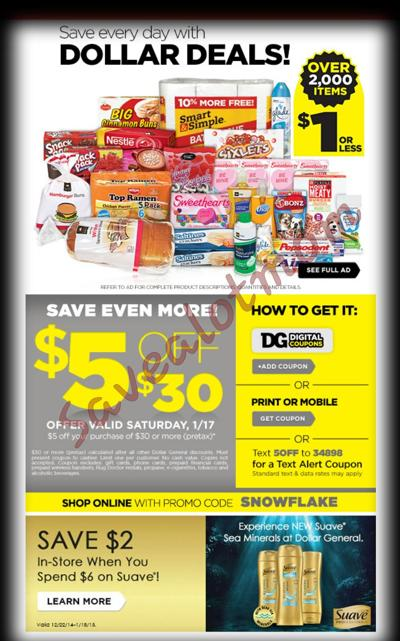$5 Dollar General Coupon!