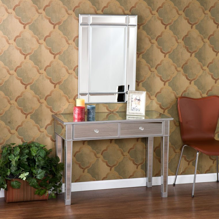 Mirrors Make Rooms Appear Larger, So Consider The Mirage Mirrored  Two Drawer Console Table ($230) At Home Depot An Optical Illusion.