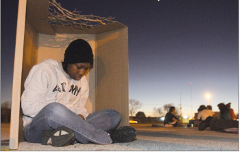 Students experience homelessness — sort of