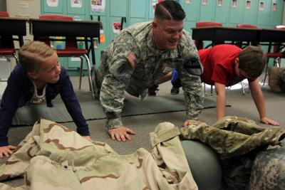Students at Temple elementary school get a glimpse into Army