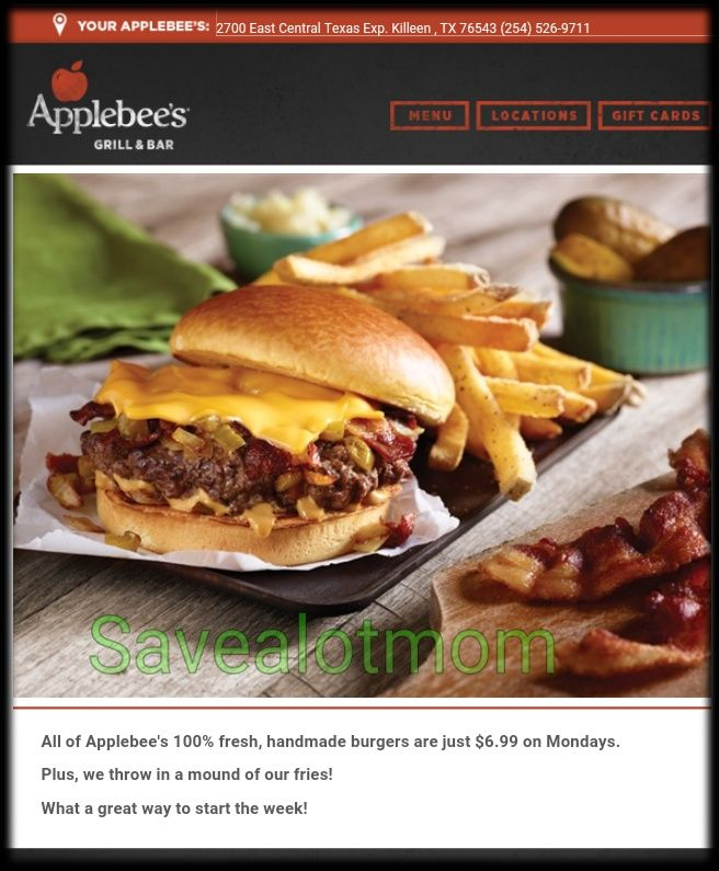 Coupons for applebees restaurant 2018