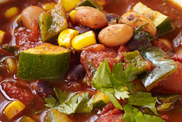 Spicy vegetarian chili