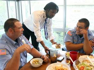 Olive Garden serves firefighters