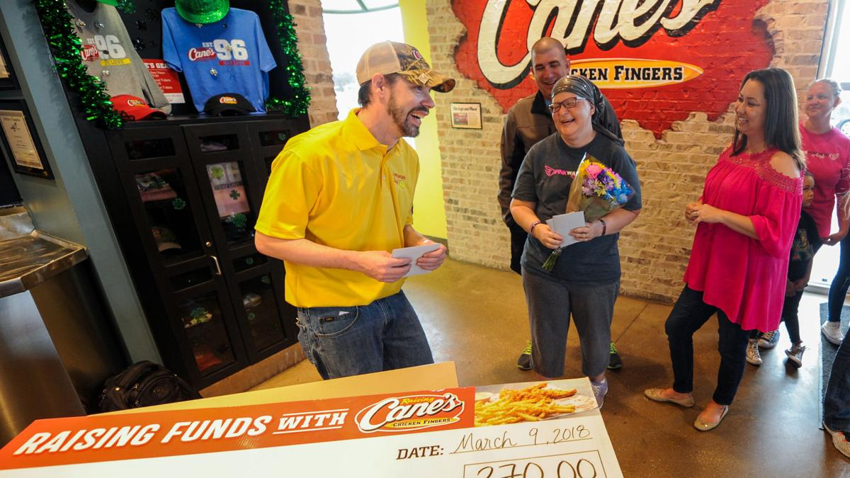 Check presented to local cancer patient