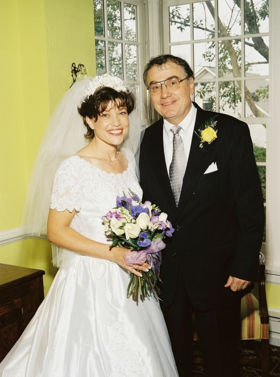 My dad and me at my 1999 wedding