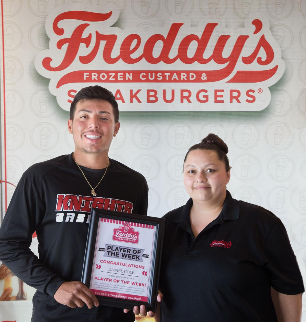 Freddy's-KDHpressbox.com Player of the Week Daniel Cole