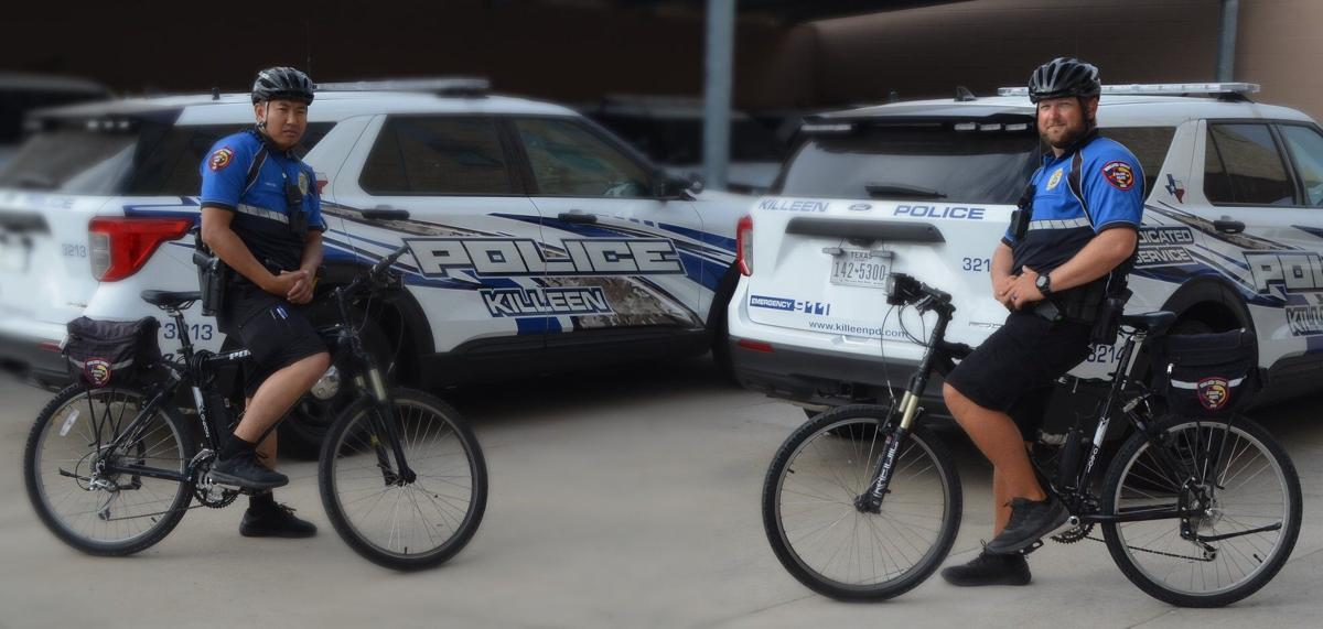 Killeen police chief selects two bike officers as employees of the month