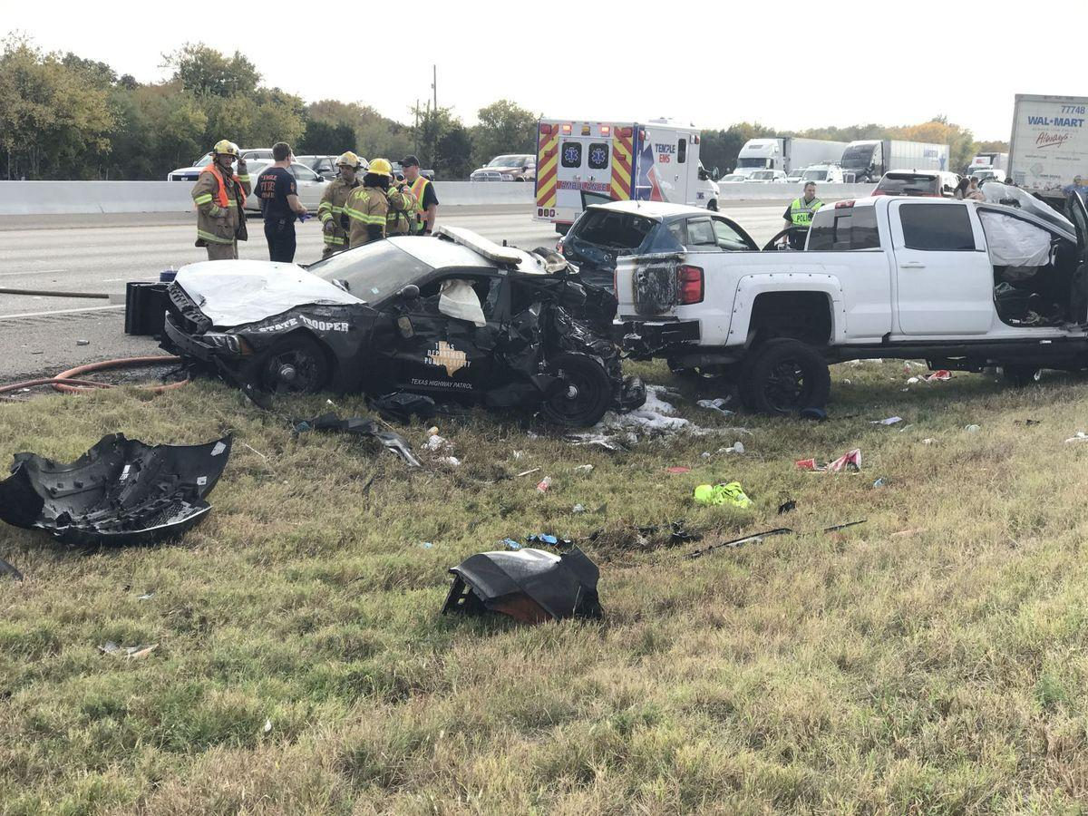 State Trooper Car Accident Temple Tx