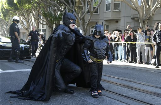 APTOPIX Boys Batman Wish