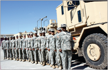 96th Transportation Company soldiers design driver's course