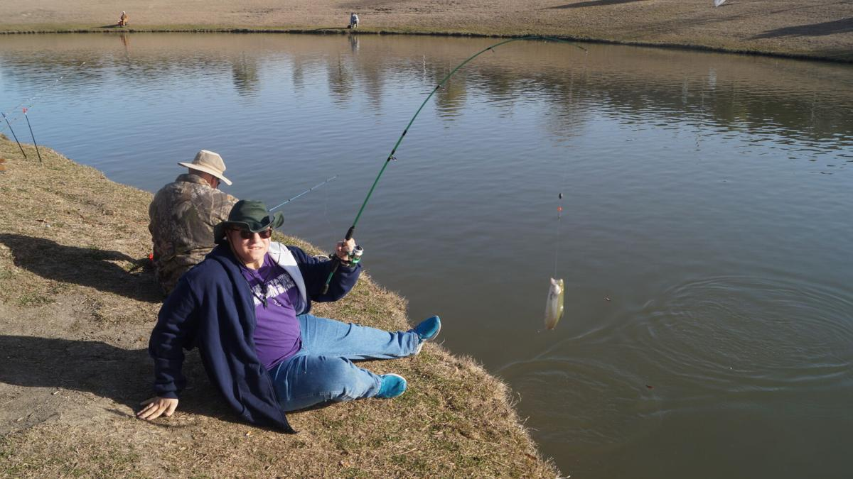Rare opportunity to fish for rainbow trout brings anglers from throughout central Texas to Harker Heights