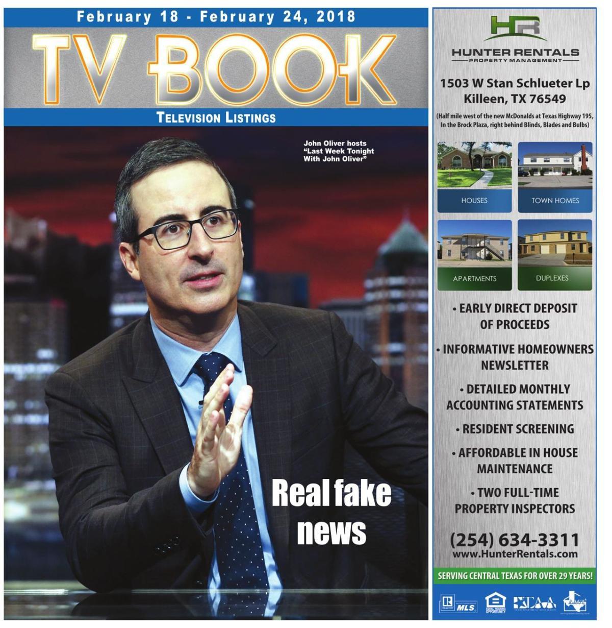 TV Book ~ Feb. 18th to Feb. 24th