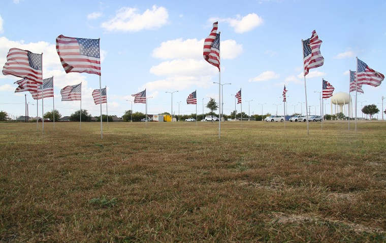 Flags Placed at Future Nov. 5 Memorial Site