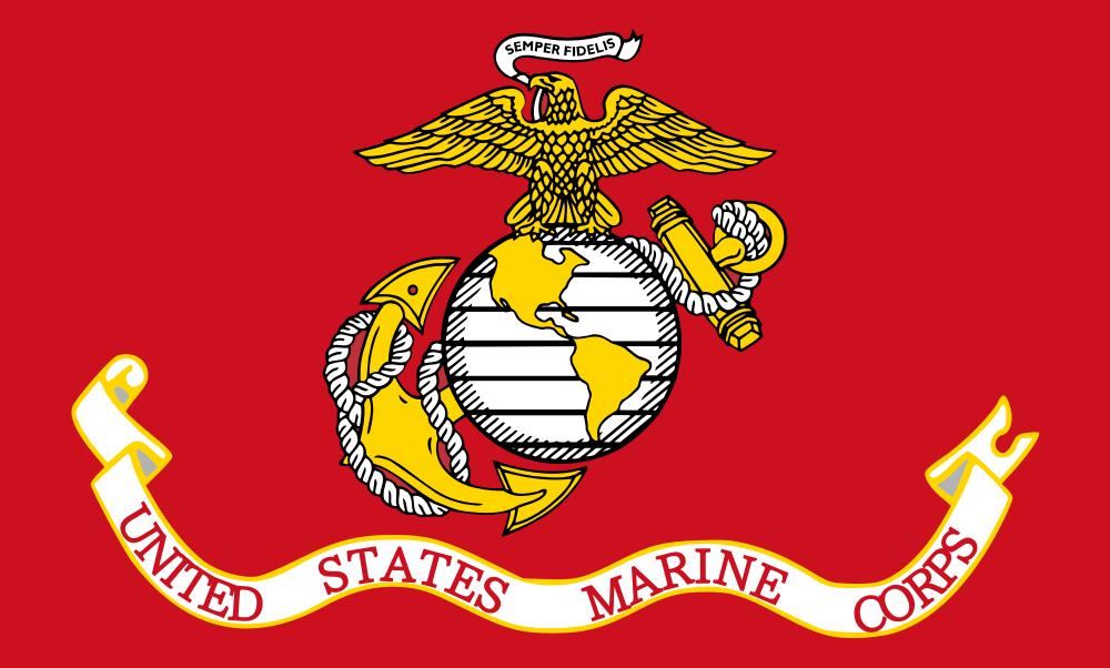 Marine Corps flag-logo