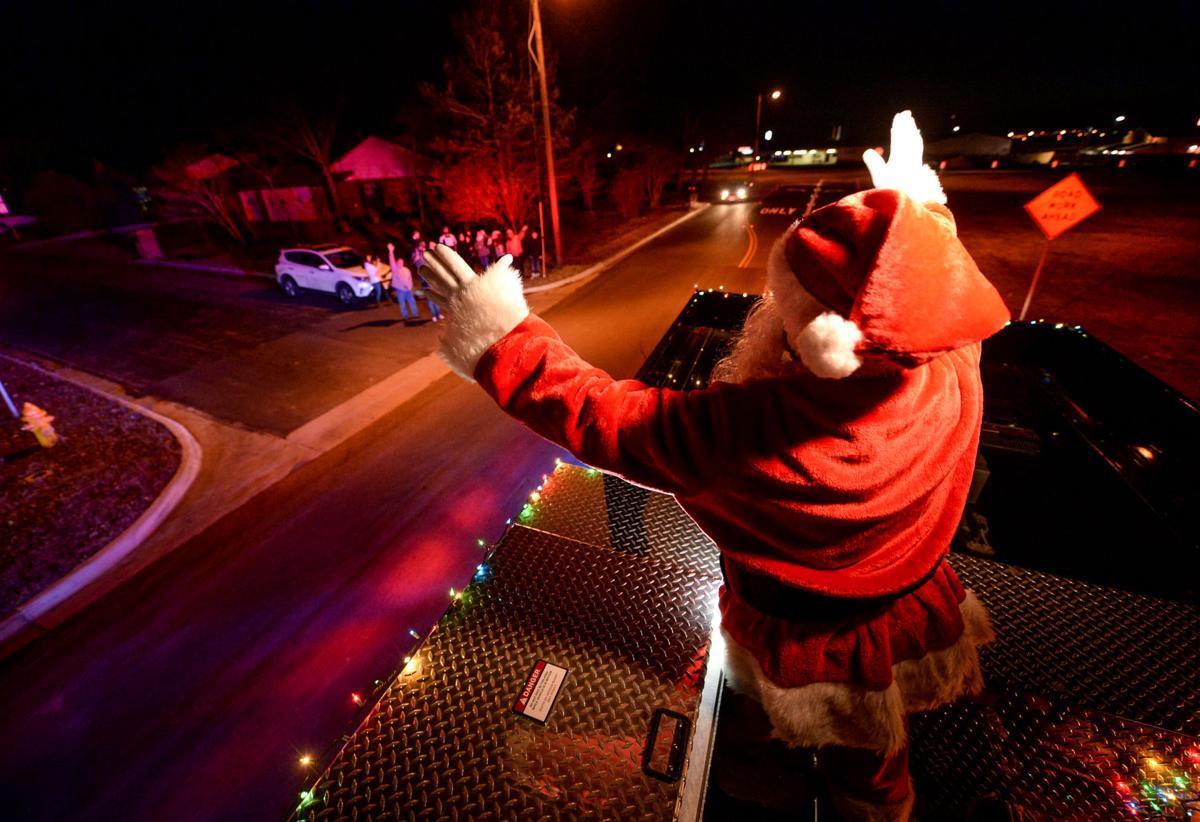 Santa on Truck