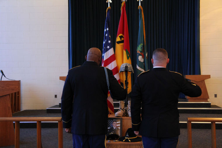 Long Knife Soldier bid farewell to fallen brother