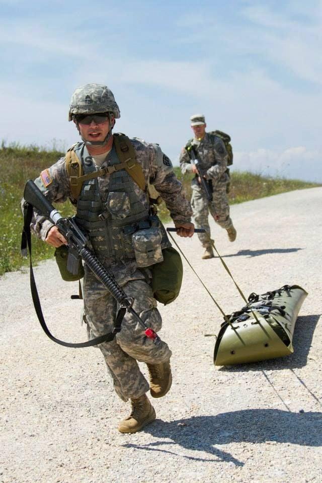 Sgt. Jordan Portillo trains for scenario