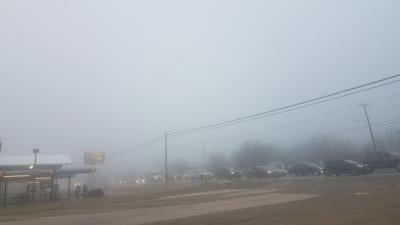 Fog on Fort Hood Street
