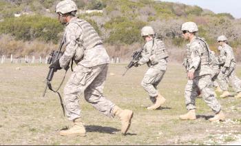 Trainers sharpen infantry skills