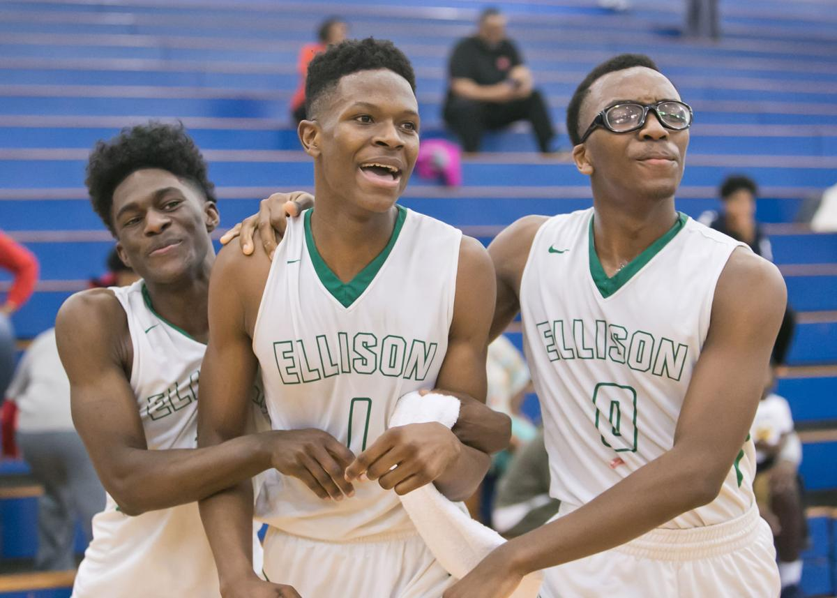 Ellison vs Cedar Hill Bi-District Playoffs Boys Basketball