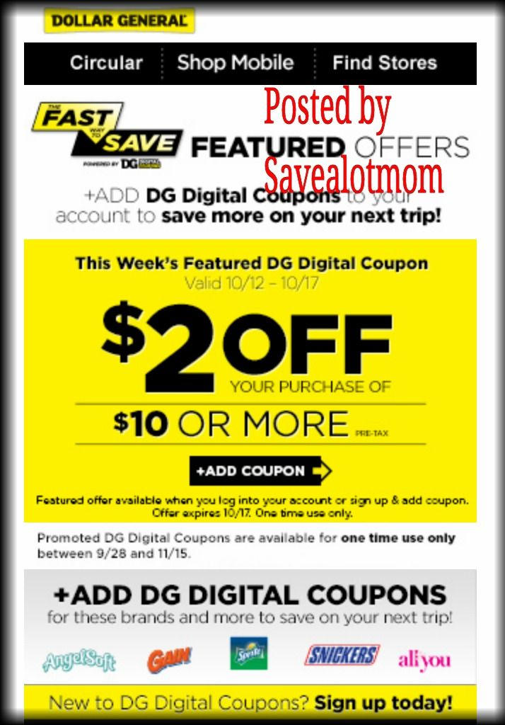 Dollar general 2 off digital coupon free milk offer for Garage appeal coupon code