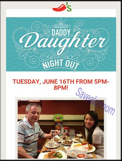 Chilis Daddy Daughter Night Out Check This Out Save A Lot Mom