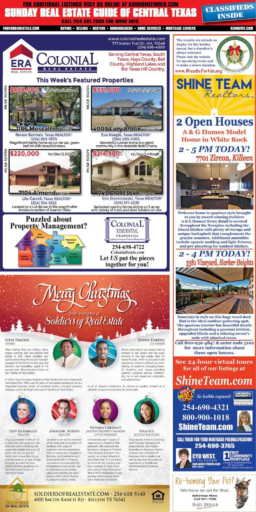 Sunday Real Estate Guide Dec. 2nd