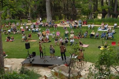 Outdoor rec Blue Hole concert.JPG