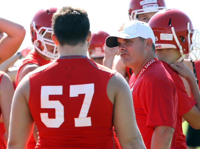 Salado football holds first practice