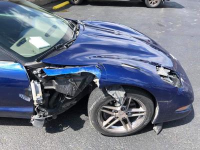 Wrecked Corvette