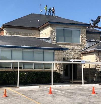 Renovated buildings, new roofs, welcome back Cove students, staff